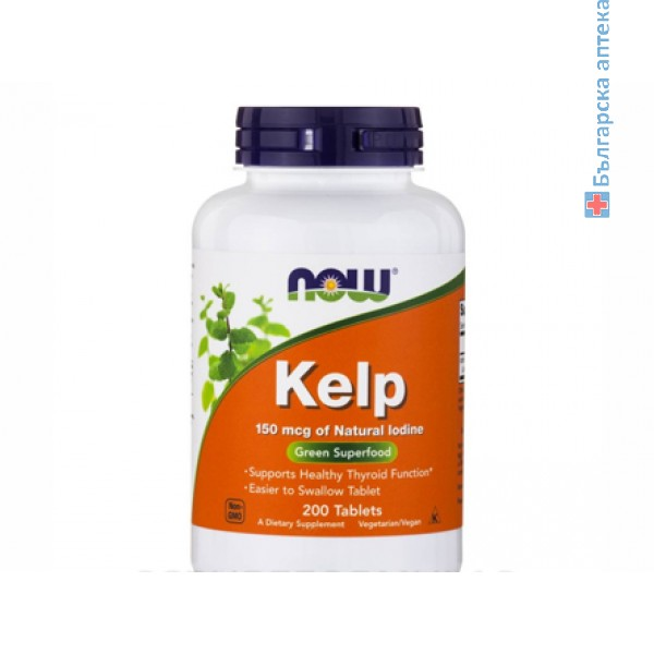 келп,kelp,източник на йод,йод,now foods,източник,йод,щитовидна жлеза