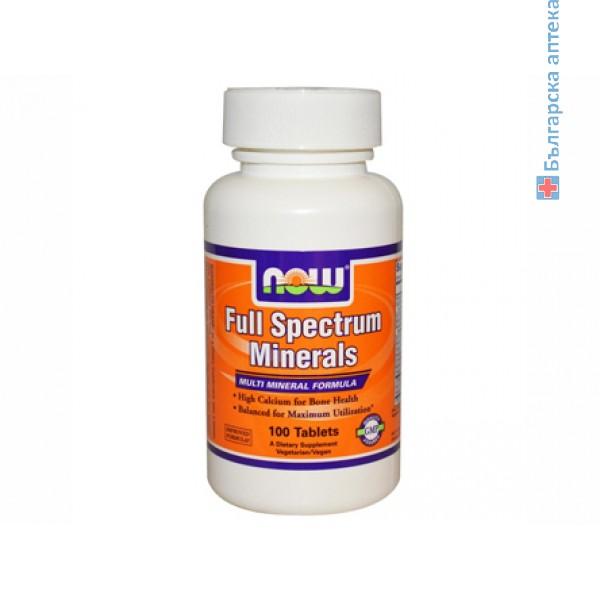комплекс от минерали,минерали,full spectrum minerals,now foods,