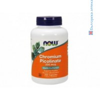 хром пиколинат,chromium picolinate,now foods,200 мкг,250 капсули