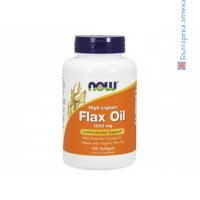 ленено масло,висока концентрация,лигнин,flax oil high lignan,now foods