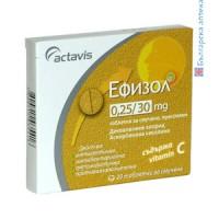 ЕФИЗОЛ 20 тaблетки - при болки в гърлото